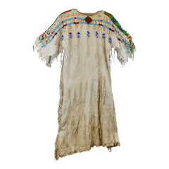 Yakima dress with elk ivories