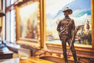 Original western artwork including paintings and bronzes.