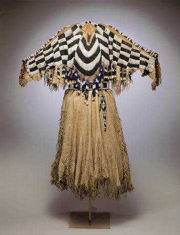 Native American Beaded Dress With Awl Case
