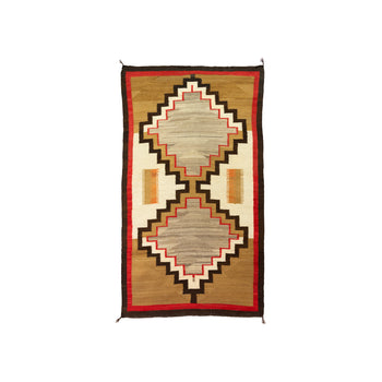 American Indian  6' to 8', american indian: weaving: navajo, crystals, navajo, runners, weavings  Navajo Crystal