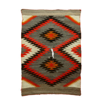 American Indian  4' to 6', american indian: weaving: navajo, blankets, navajo, sale item, transitionals, weavings  Navajo Transitional Blanket
