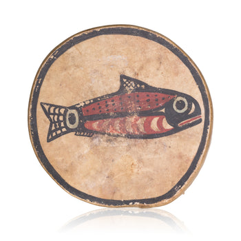 American Indian  drums, nootka  Salmon Motif