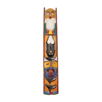 American Indian  3' to 6', carvings, northwest, totems  Folky Northwest Totem