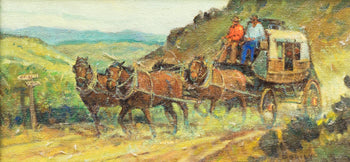 Fine Art  oil, paintings, paintings-western, sheryl bodily, stagecoach  Stagecoach by Sheryl Bodily