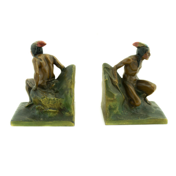 Indain Scout with Arrow Bookends
