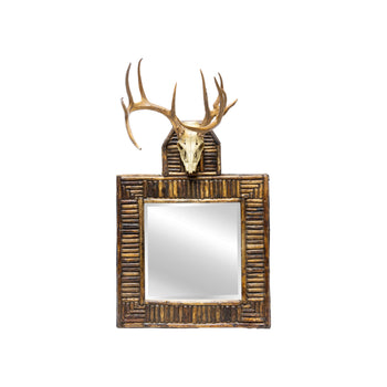 Lodge Furnishings  horn furniture, mirrors, whitetails  Funky Twig Work Mirror