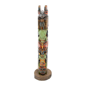 American Indian  1' to 3', carvings, samuel jackson, totems  Carved by Samuel Jackson