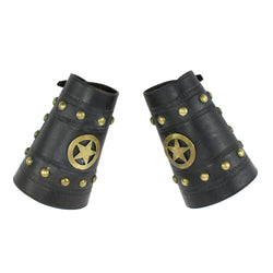 Cowboy Cuffs with Brass Studs