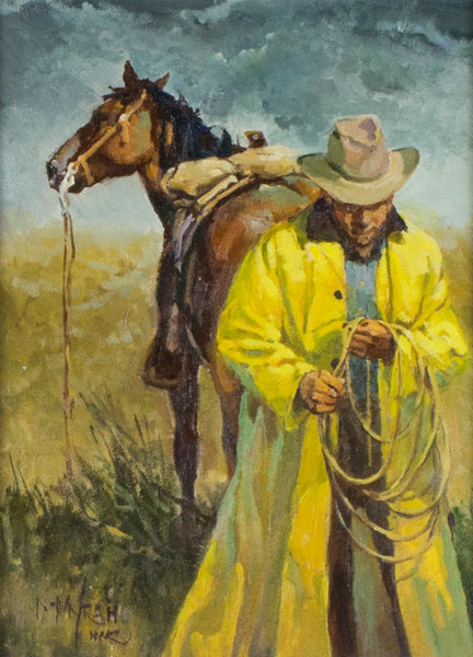 """The Yellow Slicker"" by Newman Myrah"