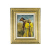 """The Yellow Slicker"" by Newman Myrah  newman myrah, oil paintings, paintings-western, sam's pick"