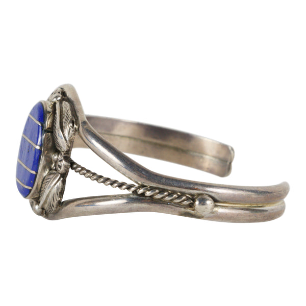 Navajo Lapis and Sterling Bracelet