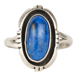 Navajo Lapis and Silver Ring