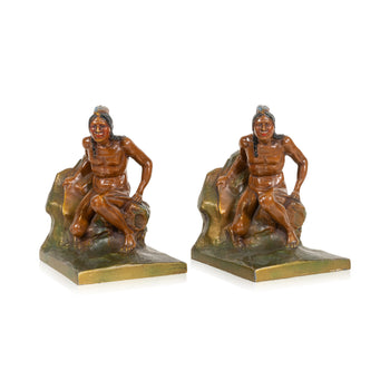 Lodge Furnishings  bookends, indian scouts, new item  Indian Scout Bookends