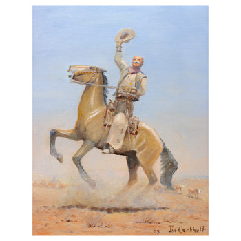Fine Art  all paintings, jim carkhuff, new item, paintings-western  Chisholm Trail by Jim Carkhuff