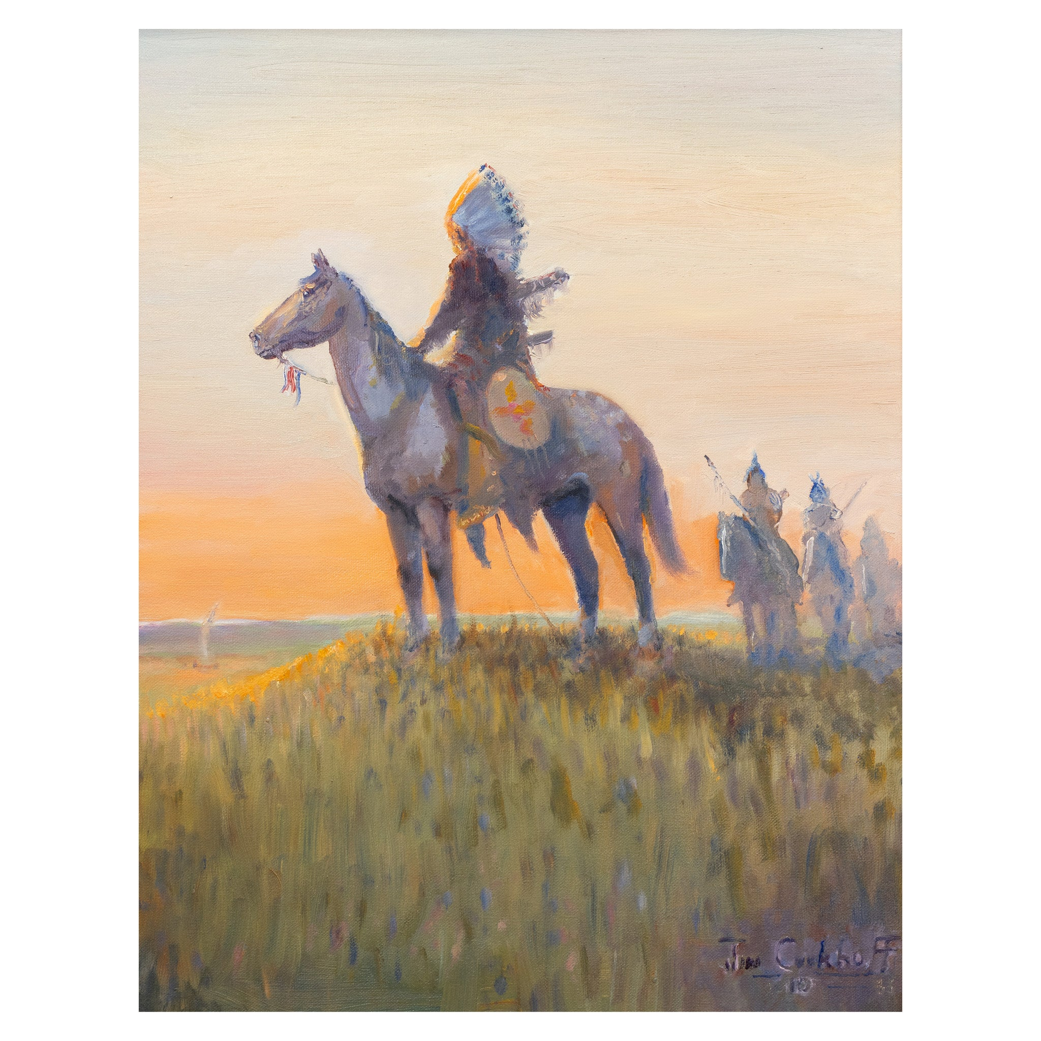 Appoloosa Stallion by Jim Carkhuff all paintings, fine art: painting: native american, jim carkhuff, paintings-native