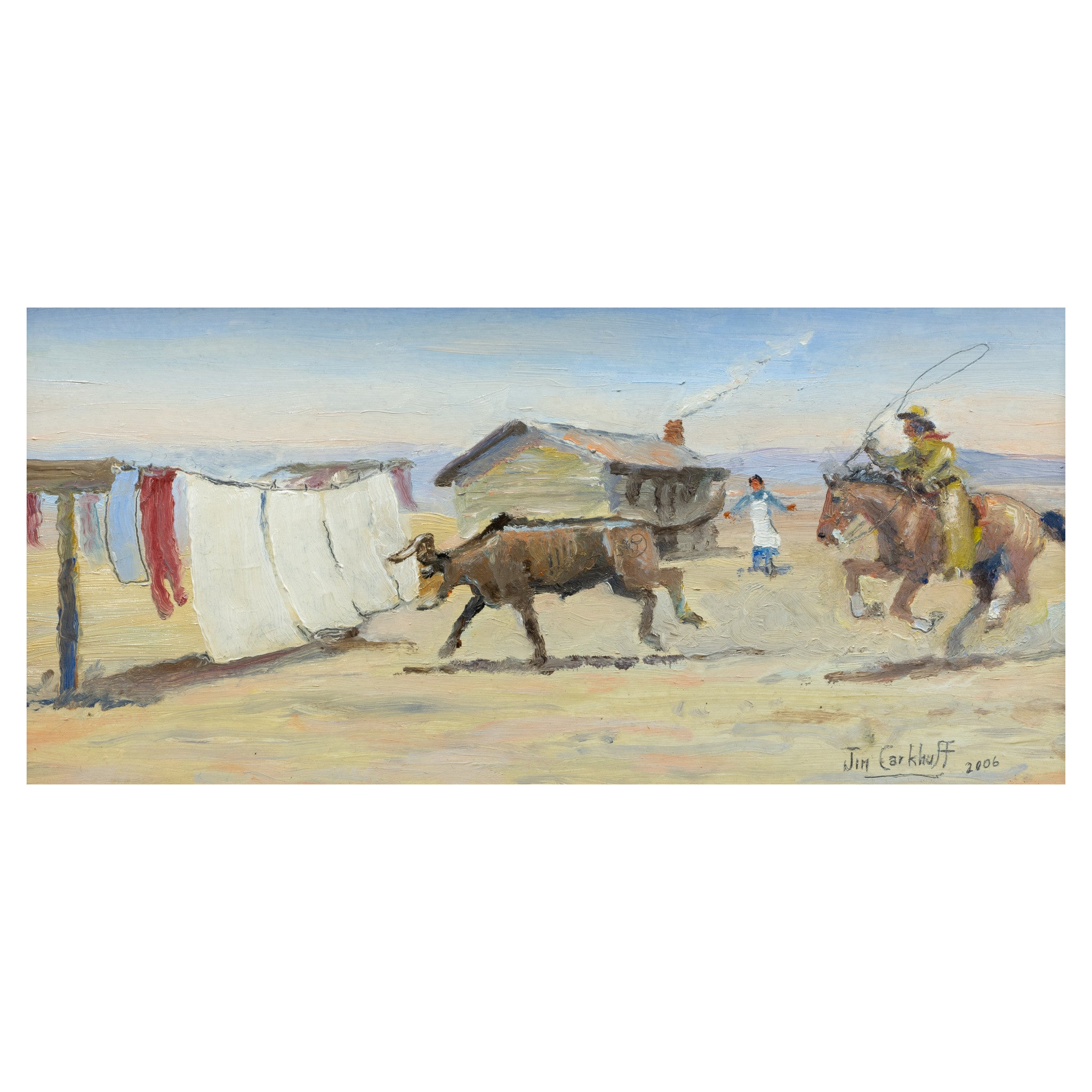 The Stray by Jim Carkhuff all paintings, jim carkhuff, new item, paintings-western