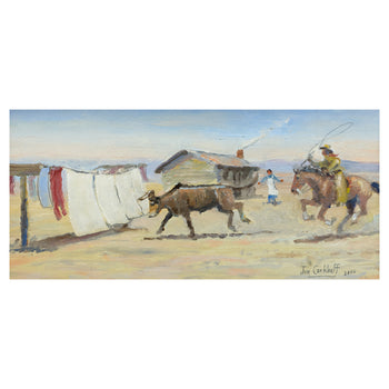Fine Art  all paintings, jim carkhuff, new item, paintings-western  The Stray by Jim Carkhuff