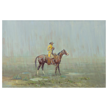 ace powell, all paintings, new item, original western fine art, paintings-western  Yellow Slicker by Ace Powell