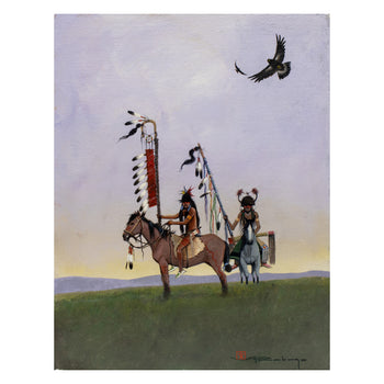 Fine Art  cayuse, fine art: painting: native american, mario rabago, paintings, paintings - native  Cayuse by Mario Rabago