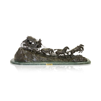 Fine Art  charles cm russell, decorative bronzes, fine art: bronze: decorative, stagecoaches  Stagecoach by Charles Russell