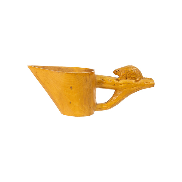 Effigy Carved Canoe Cup