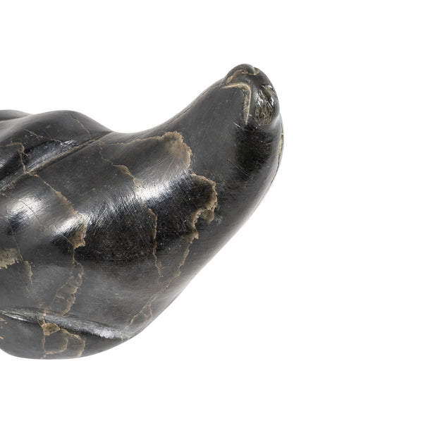 Soapstone Carving of a Bull Walrus