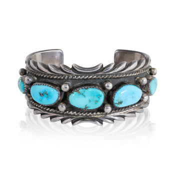 Jewelry  bracelets, navajo, sleeping beauty, sterling, turquoise  Navajo Silver and Turquoise Bracelet