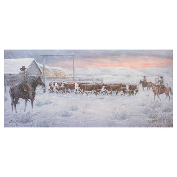 Fine Art  new item, oris dahlen, paintings, paintings - western, prints, sale item, winter  When you don't Count on the Weather by Oris Dahlen