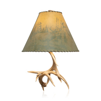 Lodge Furnishings  antler lighting, antlers, lighting, new item, table lamps, white tail  Whitetail Table Lamp