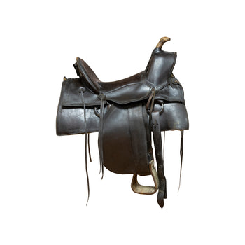 Cowboy and Western  horse gear, saddles, us cavalry  High Back Saddle