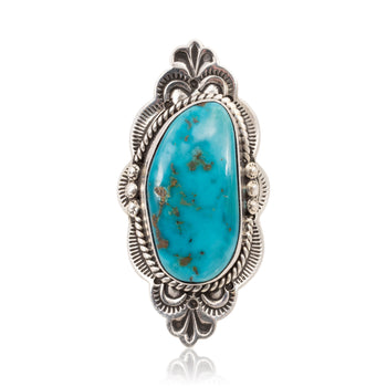 Jewelry  jewelry: ring: southwest, morenci, rings, sterling, turquoise  Navajo Turquoise Ring