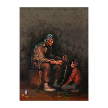 Fine Art  ace powell, paintings, paintings - western  Father and Son by Ace Powell