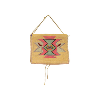 American Indian  belt pouches, corn husks, cornhusks, nez perce, sale item  Nez Perce Belt Pouch