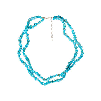 Jewelry  necklaces, new item, sterling, turquoise  Turquoise Beaded Double Strand Necklace