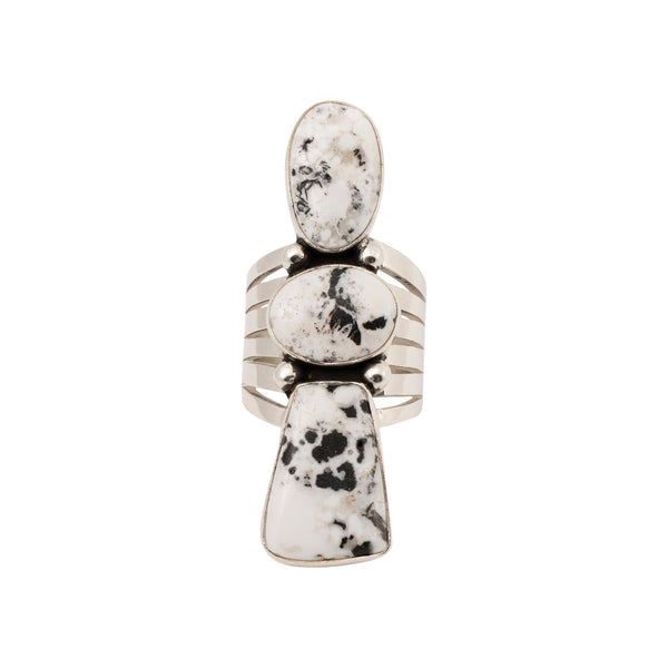 White Buffalo Turquoise Ring
