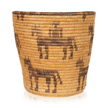 American Indian  baskets, new item, pictorial baskets, pima  Pictorial Pima Basket