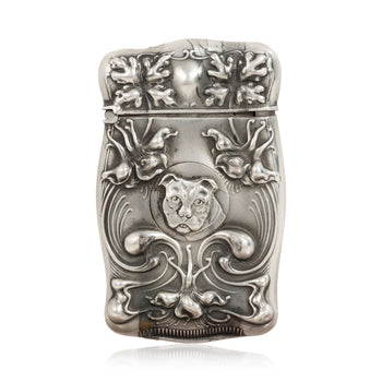 Cowboy and Western  match safes, new item, silver, smoking, sterling, tobacciana  Sterling Silver Sporting Match Safe