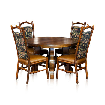 Lodge Furnishings  chairs, dining sets, dining tables, new item, old hickory, seating, tables  Dining Table and Old Hickory Chairs