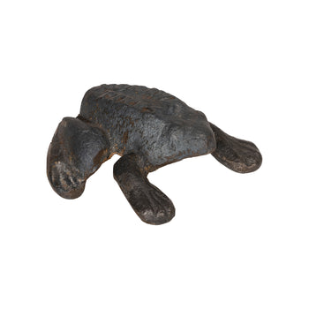 Lodge Furnishings  frogs, new item, paperweights  Cast Iron Mohawk Tires Frog Paperweight
