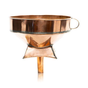 Lodge Furnishings  barware, copper, drinking, funnels, new item, wine  French Copper Wine Barrel Funnel