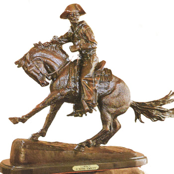 Fine Art  decorative bronzes, frederic remington  Cowboy by Frederic Remington