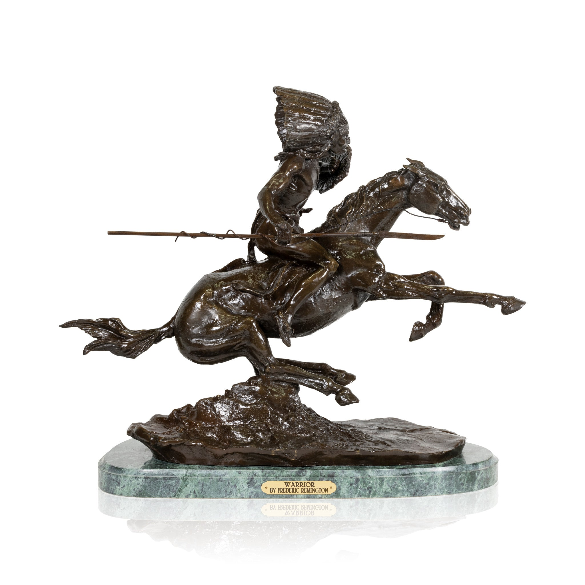 Warrior by Frederic Remington decorative bronzes, frederic remington