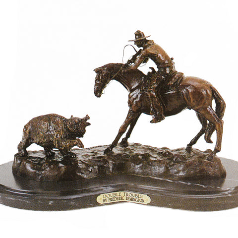 Double Trouble by Frederic Remington frederic remington, limited bronzes