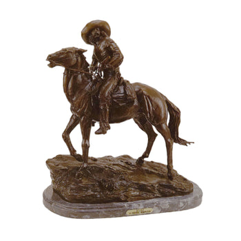 Fine Art  decorative bronzes, frederic remington  Scout by Frederic Remington