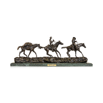 Fine Art  charles russell, decorative bronzes  Changing Outfits by Charles Russell