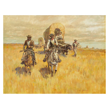 Fine Art  oil painting, paintings-western, ron crooks  The Trail West by Ron Crooks