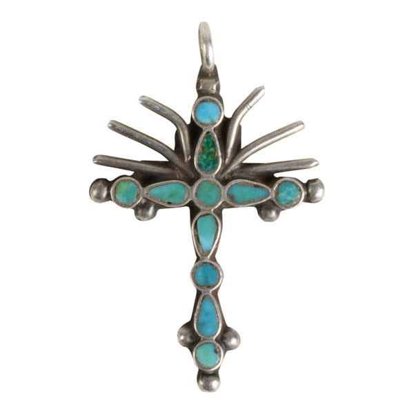 Miniature Zuni Cross Pendant