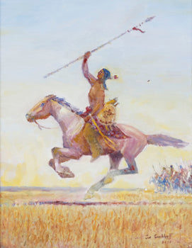 Fine Art  fine art: painting: native american, jim carkhuff, paintings, paintings-native  Leading the Charge by Jim Carkhuff