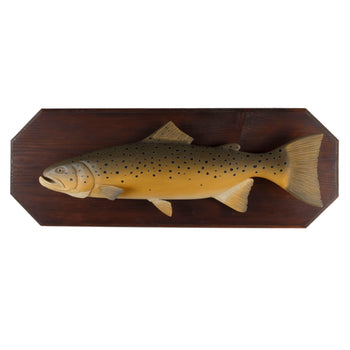 Lodge Furnishings  carvings, trout  Brown Trout