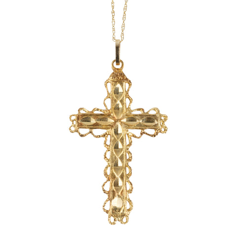14K Gold Cross cross pendants, crosses, gold, necklaces, womens
